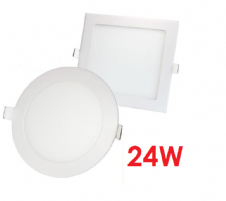 Recessed LED Panels 24W Round and Square